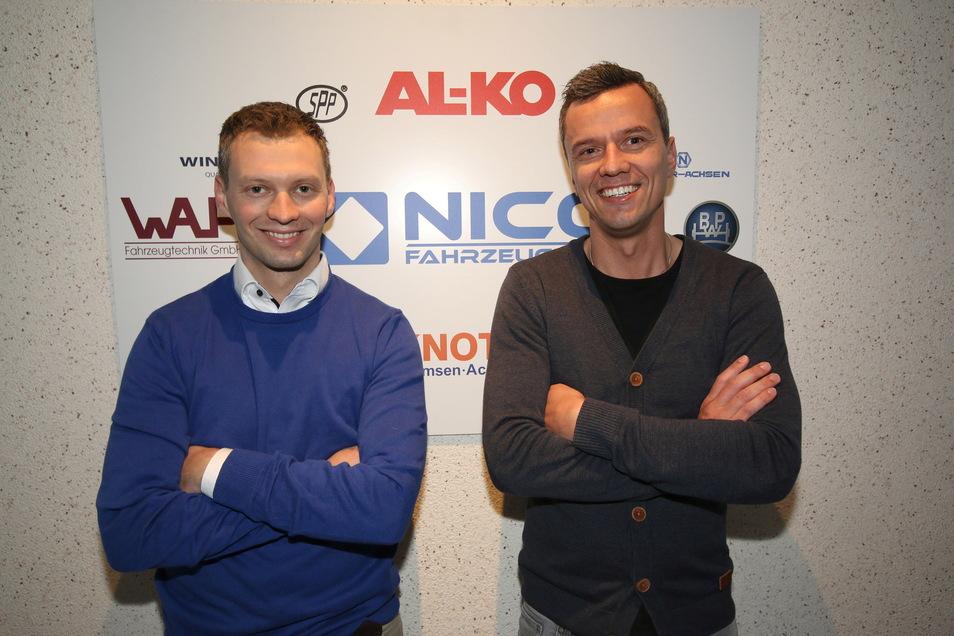 Markus Rütz (rechts), Geschäftsführer der Nico Fahrzeugteile GmbH, zusammen mit seinem Co-Chef Andreas Vogel. Bereits 2018 führte das Unternehmen eine Vier-Tage-Woche für seine Mitarbeiter ein.