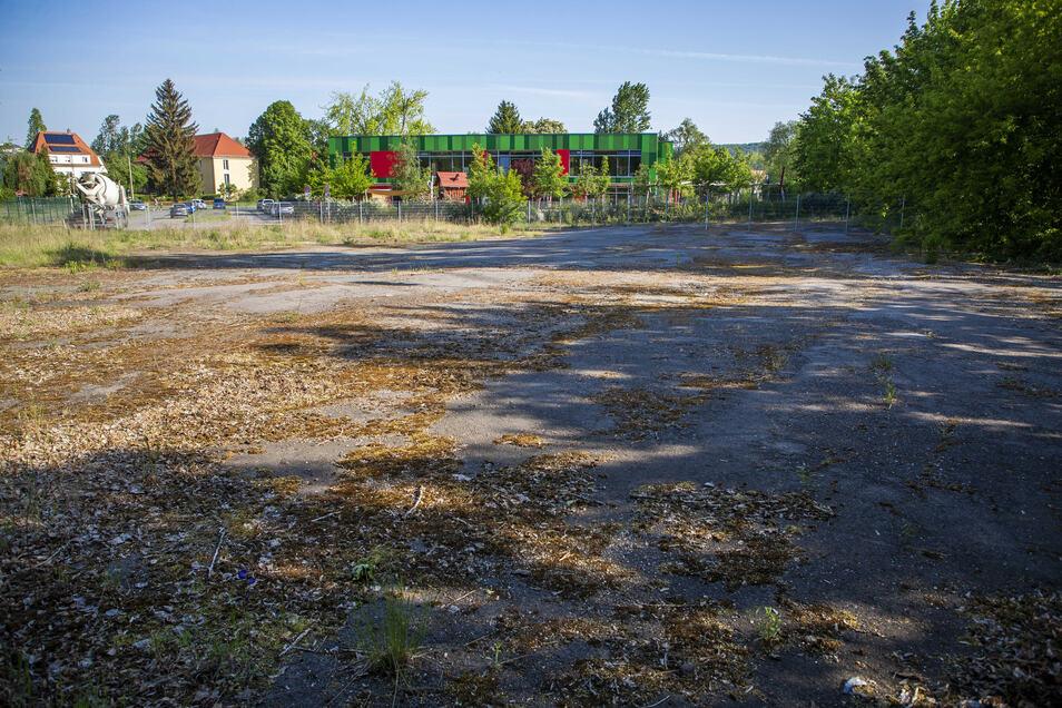 Hier standen einst Verwaltungsgebäude, Waschanlage, eine Rampe mit Geräteschuppen sowie eine Tankanlage des alten Busbahnhofes.