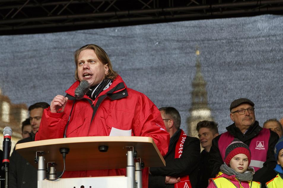 In Görlitz für unermüdlichen Arbeitskampf bekannt: Jan Otto von der IG Metall. Ob es auch bei Birkenstock hart auf hart kommt, könne er aber zum jetzigen Zeitpunkt noch nicht abschätzen.