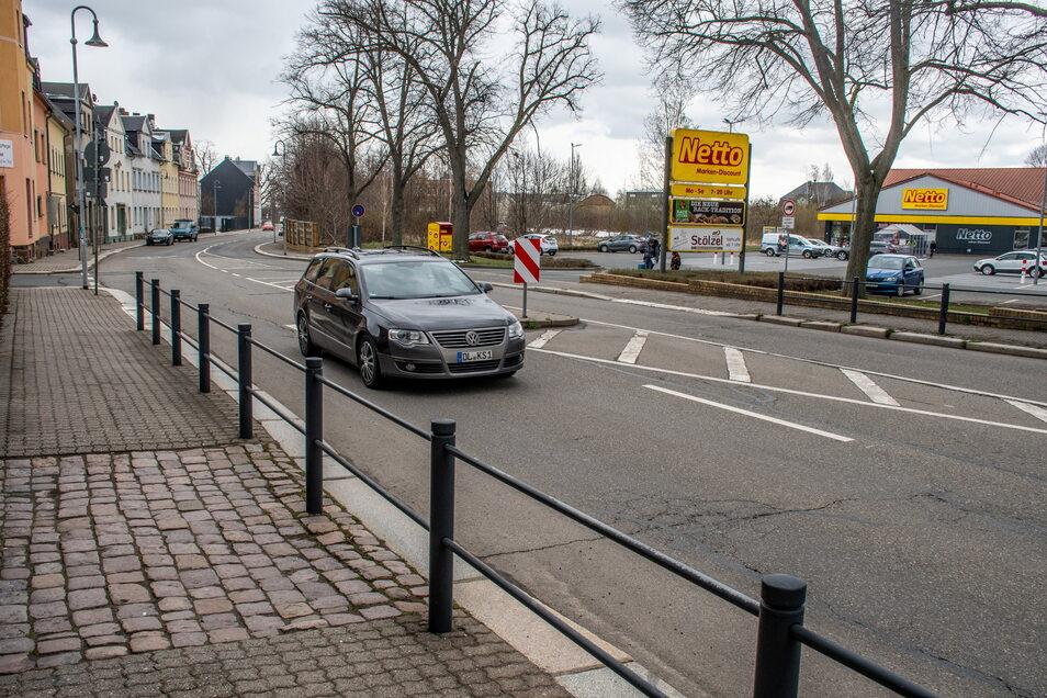 Möglicherweise könnte sich an der Dresdener Straße in Hartha noch weiterer Einzelhandel ansiedeln. Das Konzept dafür wird gerade überarbeitet.