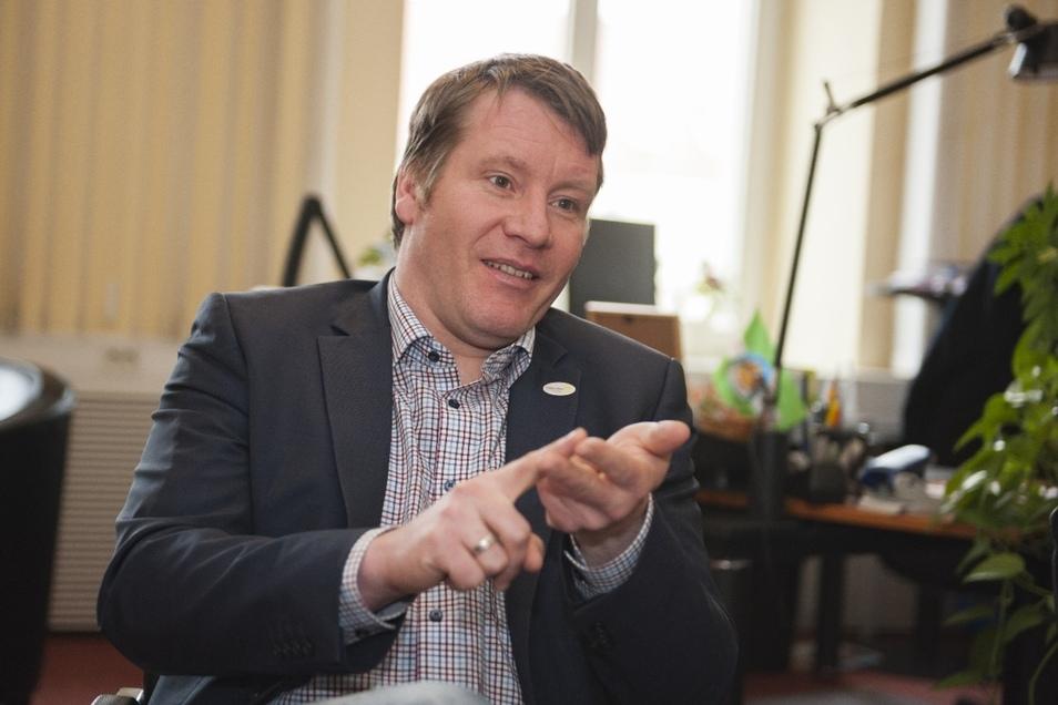 Sven Mißbach aus Großenhain ist einer der Bürgermeister aus dem Landkreis, die bei  den Kommunalwahlen für die Freien Wähler antreten.