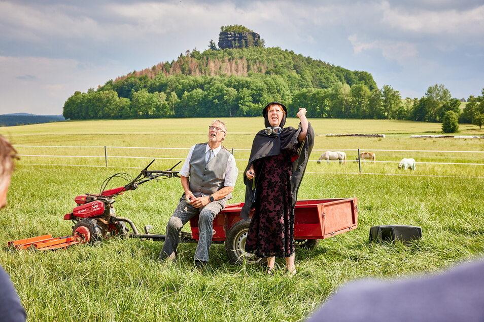 Eine flotte Geschichte, talentierte Laiendarsteller und eine perfekte Kulisse: Das ist das Landschaftstheater.