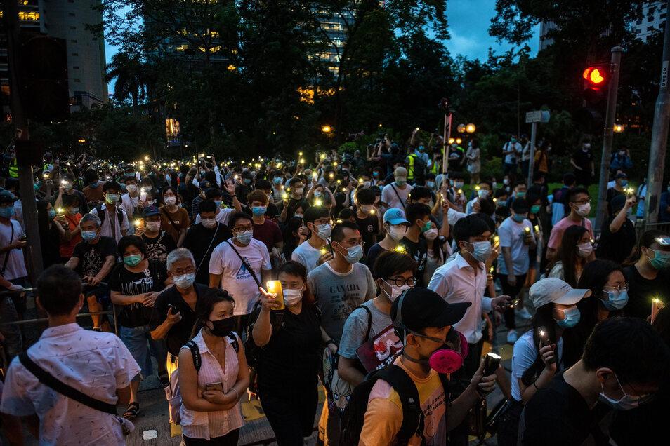 Seit einem Jahr kommt es in Hongkong zu Demonstrationen gegen den Einfluss Pekings.
