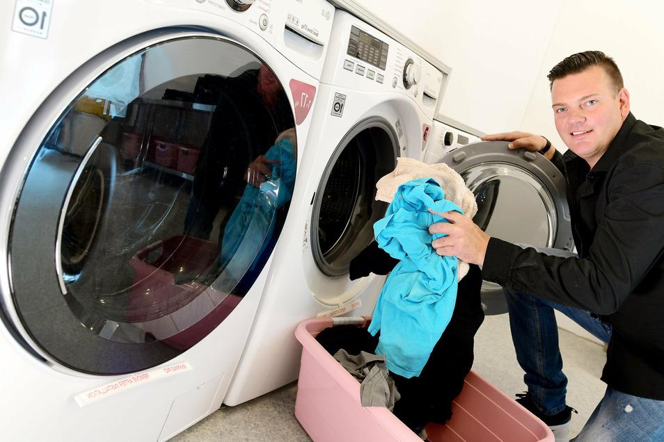 Sven Verner betreibt den neuen SB-City-Waschsalon, der am 6. Oktober öffnen wird.