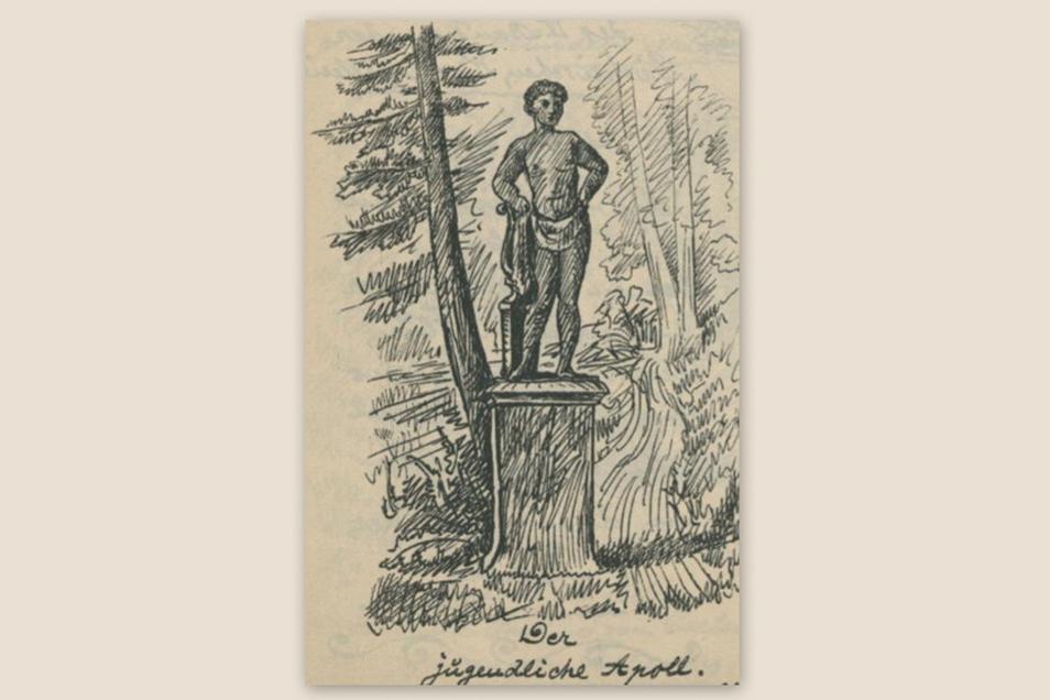 Der jugendliche Atoll. Aus: Bergblumen 1887.