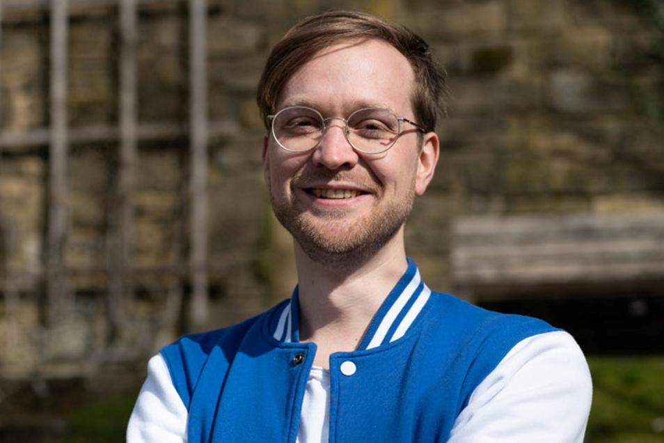 Nino Haustein, Direktkandidat für Bündnis 90/Die Grünen bei der Bundestagswahl 2021 im Landkreis Sächsische Schweiz-Osterzgebirge.