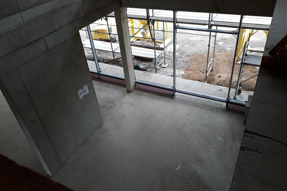 Das Foyer soll einladend hell sein und wie ein Atrium angelegt sein.