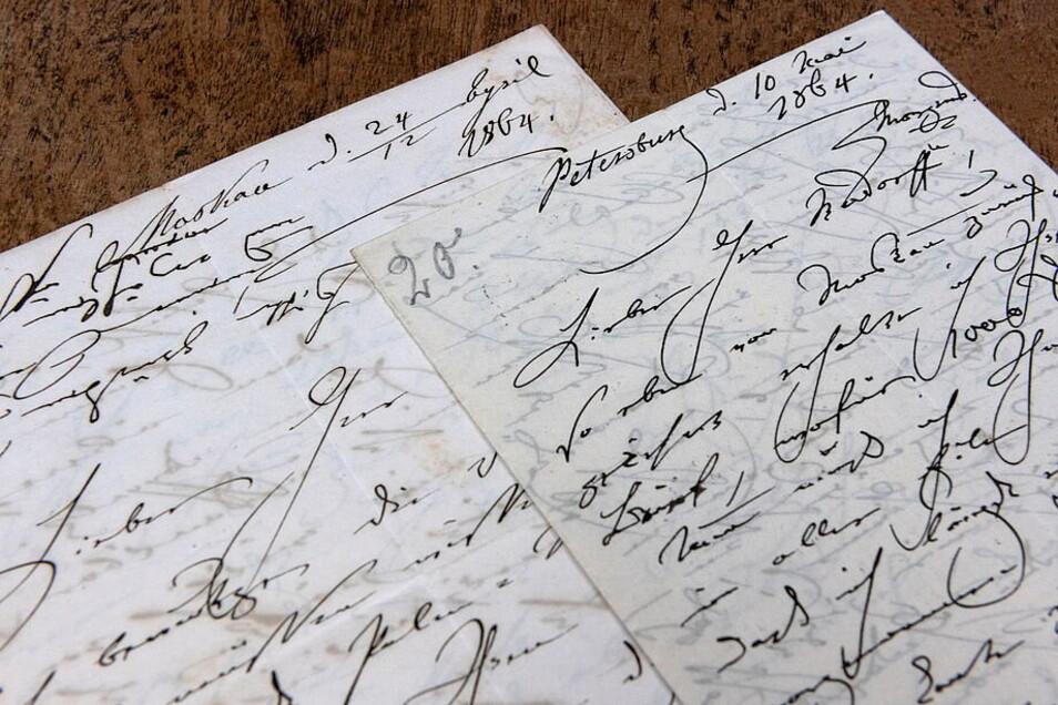 Eigenhändiger Brief der deutschen Pianistin Clara Schumann an den Komponisten Ernst Rudorff (Moskau und Petersburg, April/Mai 1864)