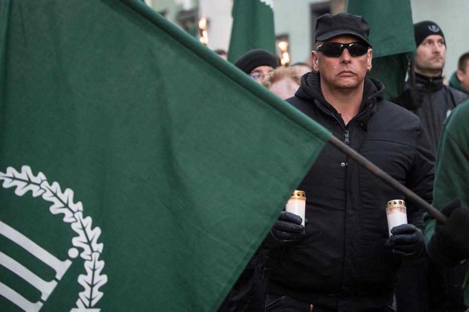 """Die rechtsextreme Partei """"Der dritte Weg"""" wollte in Plauen demonstrieren."""