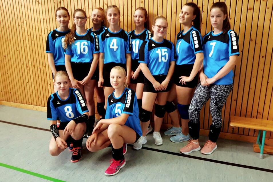 Die Hoyerswerdaer U-16-Volleyball-Jugendvertretung, die in Spremberg zum Einsatz kam.