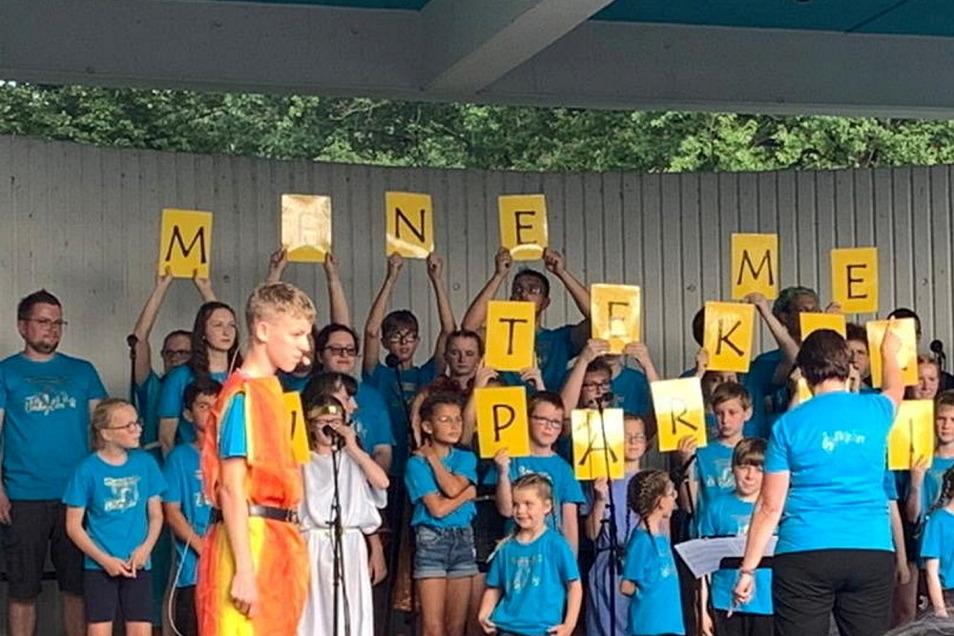 Das Kindermusical wurde bereits im Sommer im Waldbad Glaubitz aufgeführt.