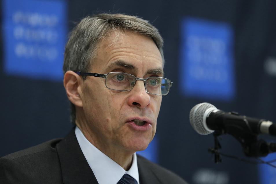 Kenneth Roth, Chef von Human Rights Watch, spricht auf einer Pressekonferenz. Hongkong hat dem Chef der internationalen Menschenrechtsorganisation Human Rights Watch erstmals die Einreise verweigert.
