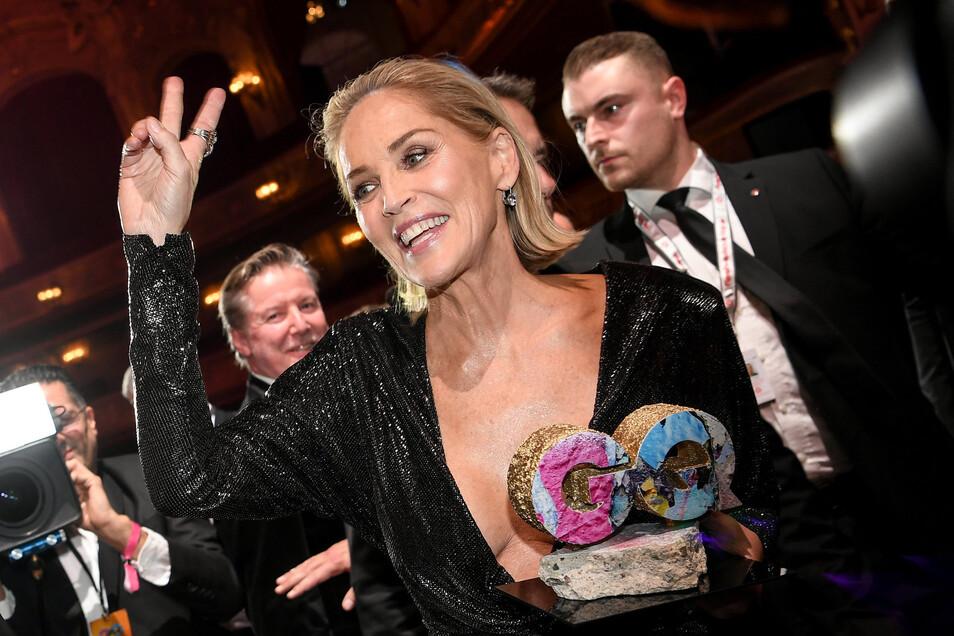"""US-Schauspielerin Sharon Stone ist die """"Woman of the Year§ geworden."""