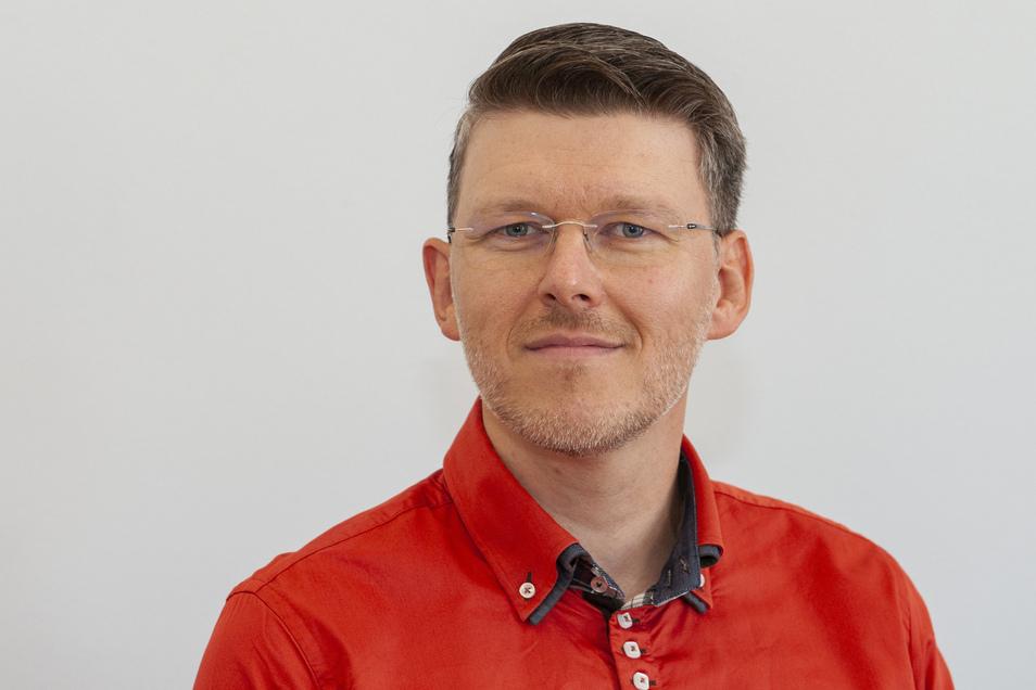 """Sebastian Bieler ist für die Wählerinitiative """"Wir in Großenhain"""" fraktionsloser Stadtrat."""