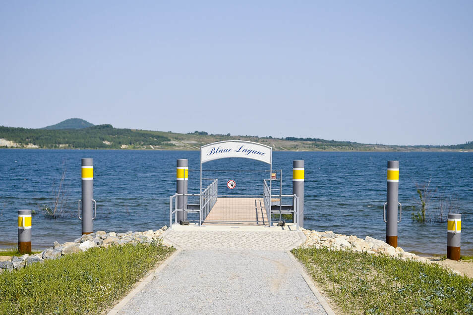 Vielleicht legen an diesem Steg - wie an den anderen gleich gebauten am See - bald mehr Boote an?