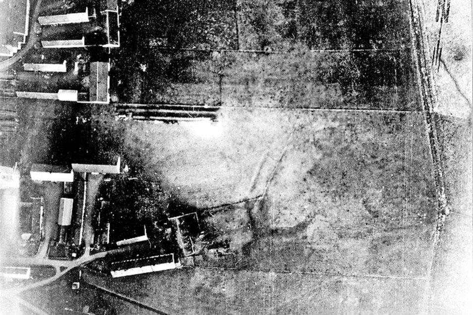 Das  Bild von 1939 ist eines der ersten deutschen Luftfotos von ehemaligen Wasserburgen.