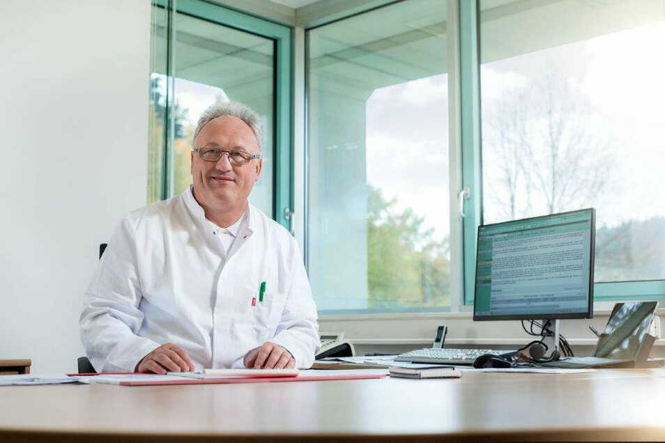Dr. Andreas Müller, Chefarzt der Inneren Abteilung der Asklepios Sächsische-Schweiz-Klinik Sebnitz.