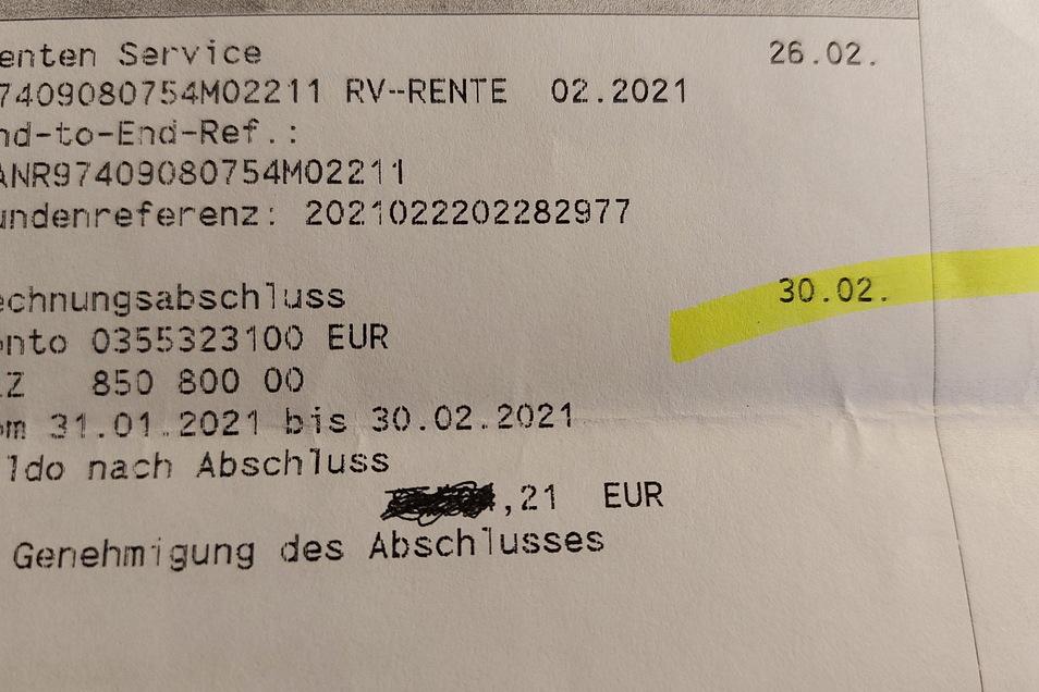 Komische Zeitrechnung: Bei der Commerzbank gibt es seit Jahren einen 30. Februar.