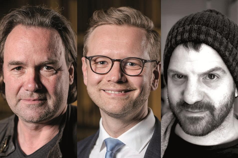 Zukünftiges Team am Gerhart-Hauptmann-Theater: Chefdramaturg Martin Stefke, Generalintendant Daniel Morgenroth; Schauspielleiter Ingo Putz.