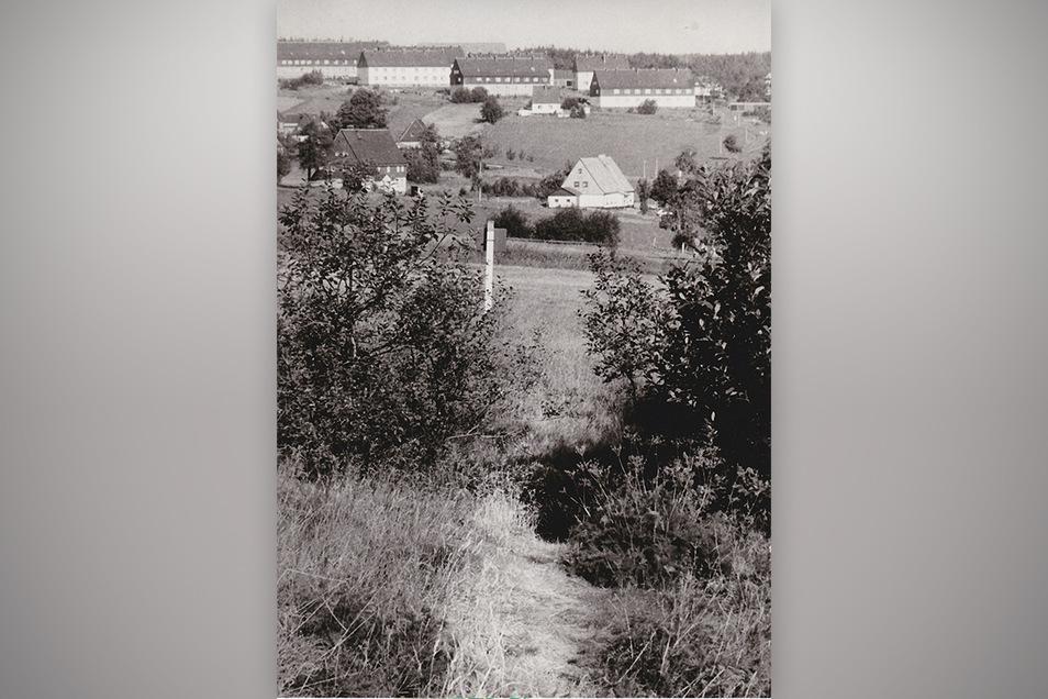 1991 ging es bei Zinnwald noch auf Trampelpfaden über die grüne Grenze ins böhmische Wirtshaus