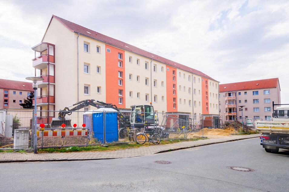 Im August 2018 standen die Arbeiten am Wohnhaus Lessingstraße 2 bis 6 in Gröditz kurz vor dem Ende. Jetzt ist das Bauprojekt ausgezeichnet worden.