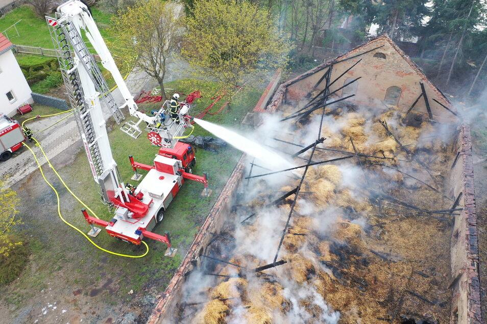 Der Großbrand in Cunnersdorf gab dem Glashütter Feuerwehrchef Veith Hanzsch den Anstoß, eine Werbekampagne für die Feuerwehr zu starten.