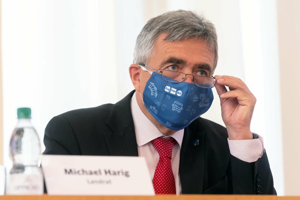 Bautzens Landrat Michael Harig (CDU) mahnt die Bevölkerung, sich angesichts weiterhin hoher Infektionszahlen an die Corona-Regeln zu halten.