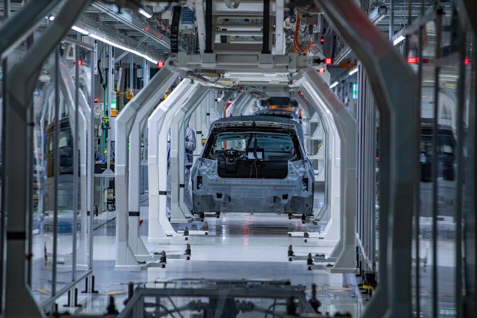 Im Werk in Zwickau produziert VW den Kleinwagen ID3.