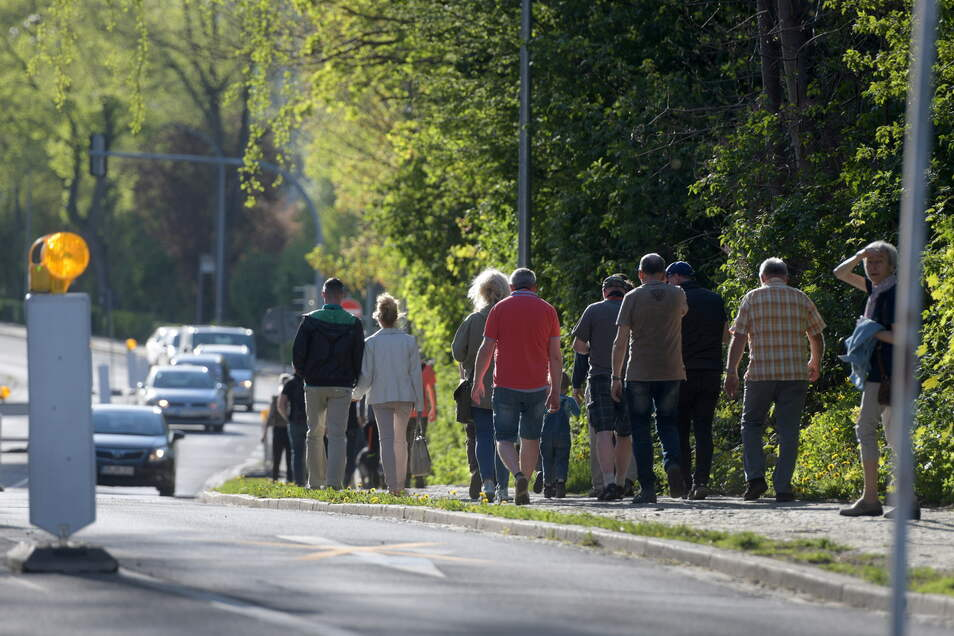 Der Montags-Spaziergang um den Zittauer Stadtring verliert inzwischen an Zulauf.