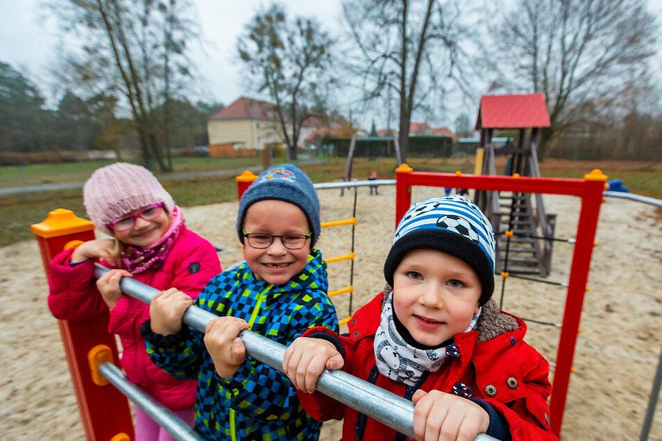 Einen Spielplatz wie in Laubusch wünschen sich die Anwohner aus dem Wiesengrund.