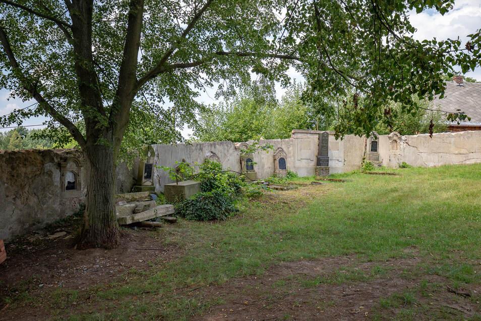 Der Friedhof in Václavice