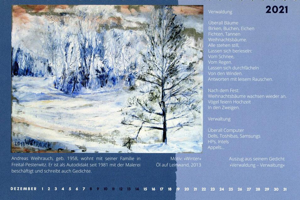 Verwaldung oder Verwaltung - Gedicht und Bild von Andreas Weihrauch