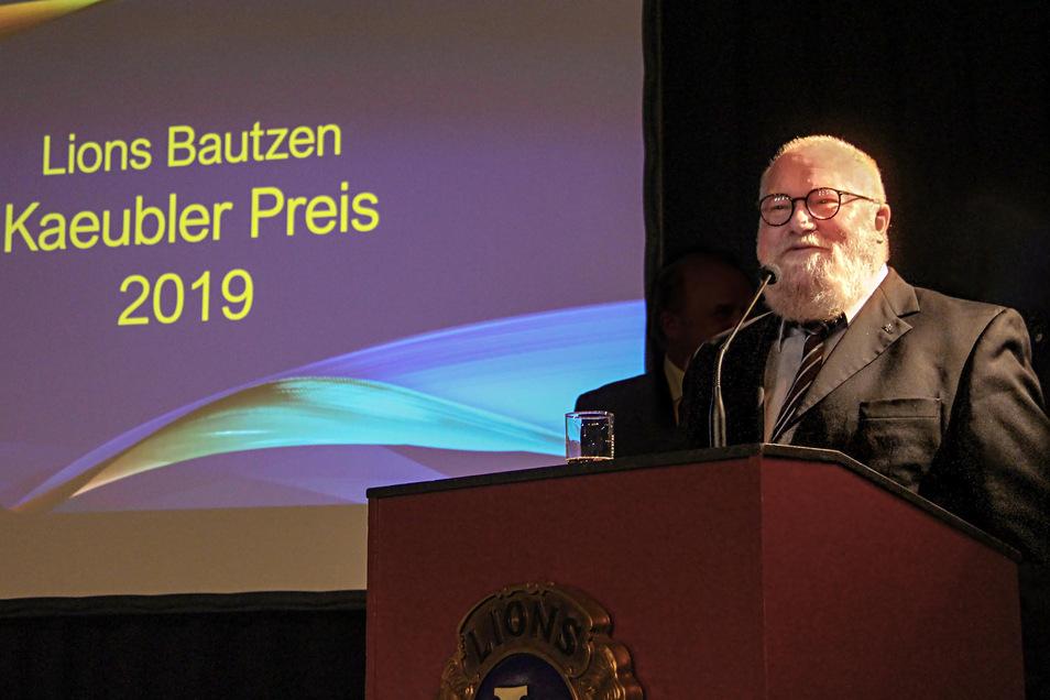 Bautzens früherer Oberbürgermeister Christian Schramm erhält in diesem Jahr den Kaeubler-Preis des Lions-Clubs. Die offizielle Preisverleihung findet am 22. Januar statt.