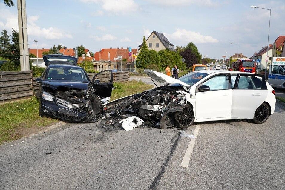 Auf der Dresdener Straße in Bautzen kam es Montagnachmittag zu einem Zusammenstoß zweier Pkw.