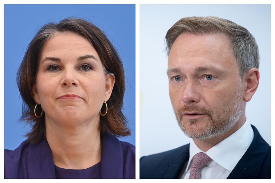 Grünen-Kanzlerkandidatin Annalena Baerbock und FDP-Chef Christian Lindner.