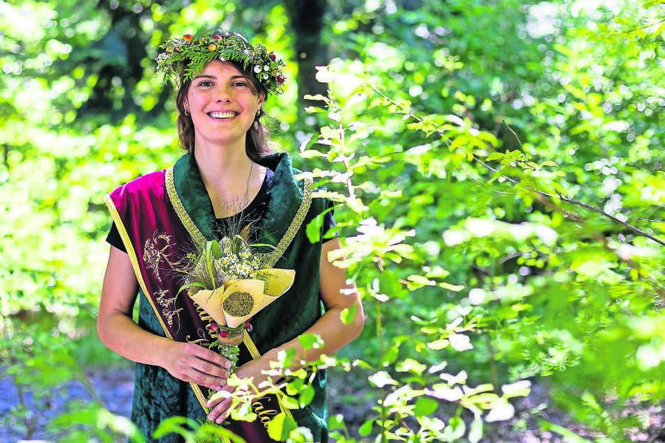 Die neue Tharandter-Wald-Königin heißt Sandra Sebelin. Sie kam als Studentin in die Stadt.
