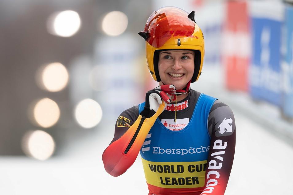 Das Lächeln gehört bei ihr dazu. Julia Taubitz ist eine Frohnatur, mit dem fünften Platz beim Heim-Weltcup in Altenberg allerdings überhaupt nicht zufrieden.