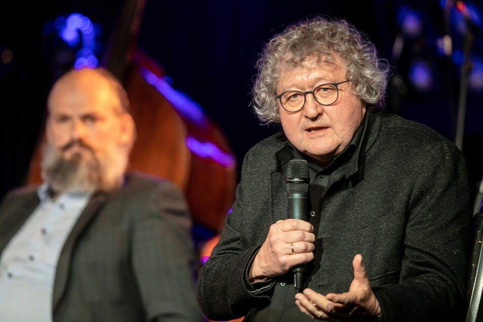 Debattierfreudig zeigte sich Werner Patzelt auch auf den Jazztagen 2020 in Dresden.