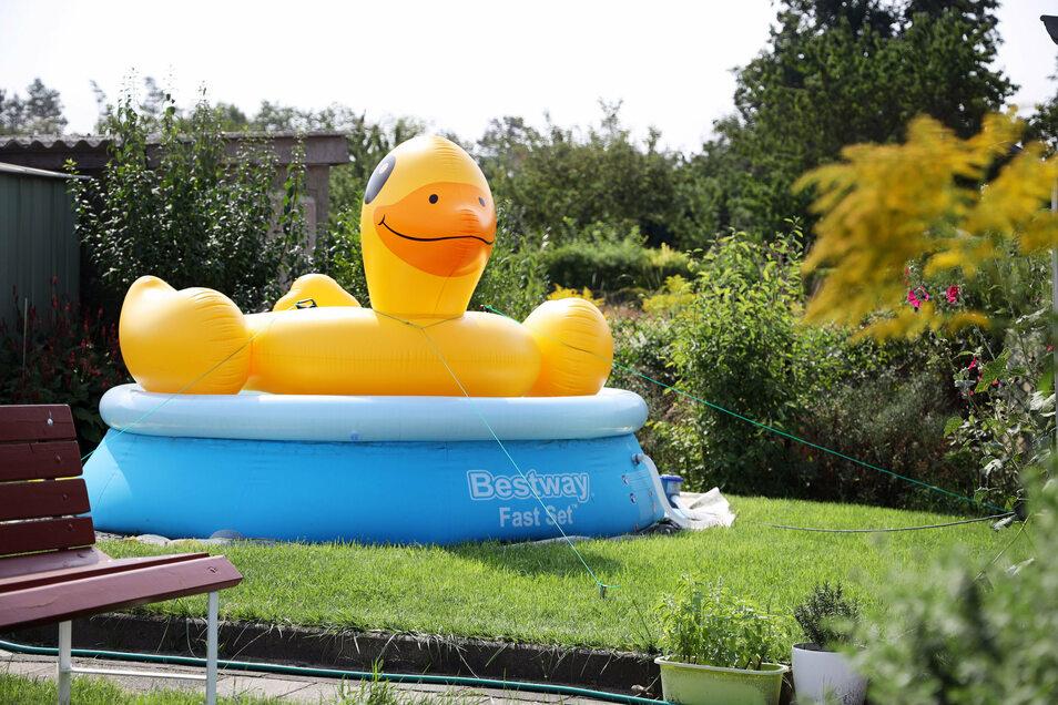 Symbolfoto: Noch stehen in vielen Kleingärten der Region die Pools. Doch nach den warmen Tagen werden die meisten Anlage abgebaut werden. Wohin dann aber mit dem Wasser?