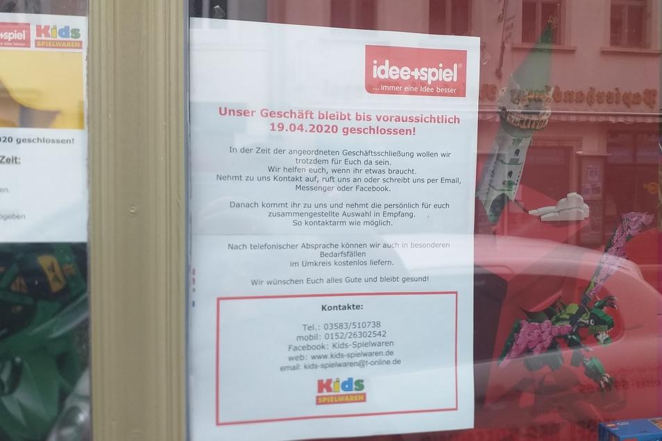 Die meisten Zittauer Geschäfte haben derzeit geschlossen. Das setzt die Inhaber unter enormen Druck.