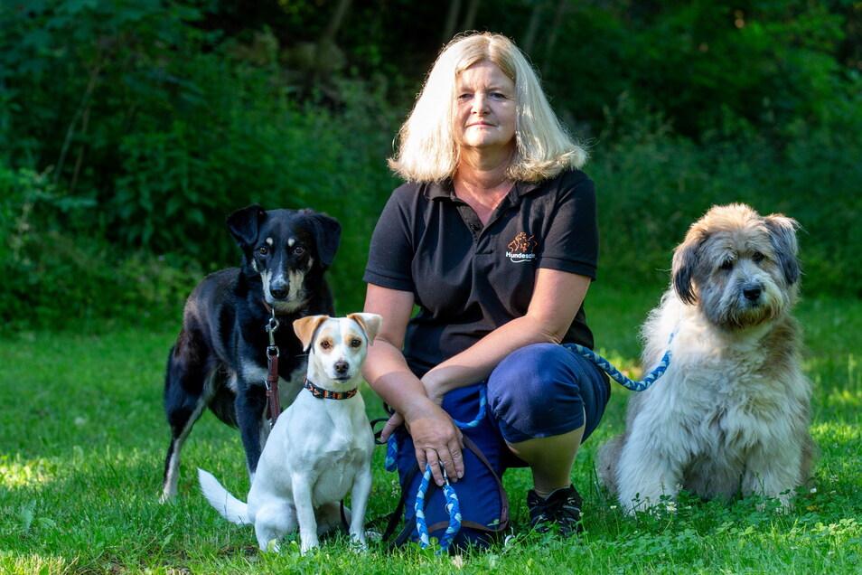 Anett Lohse ist Hundetrainerin und Hundeverhaltenstherapeutin in Pirna. Sie wünscht sich eine größere Auslauffläche für Hunde in der Innenstadt.