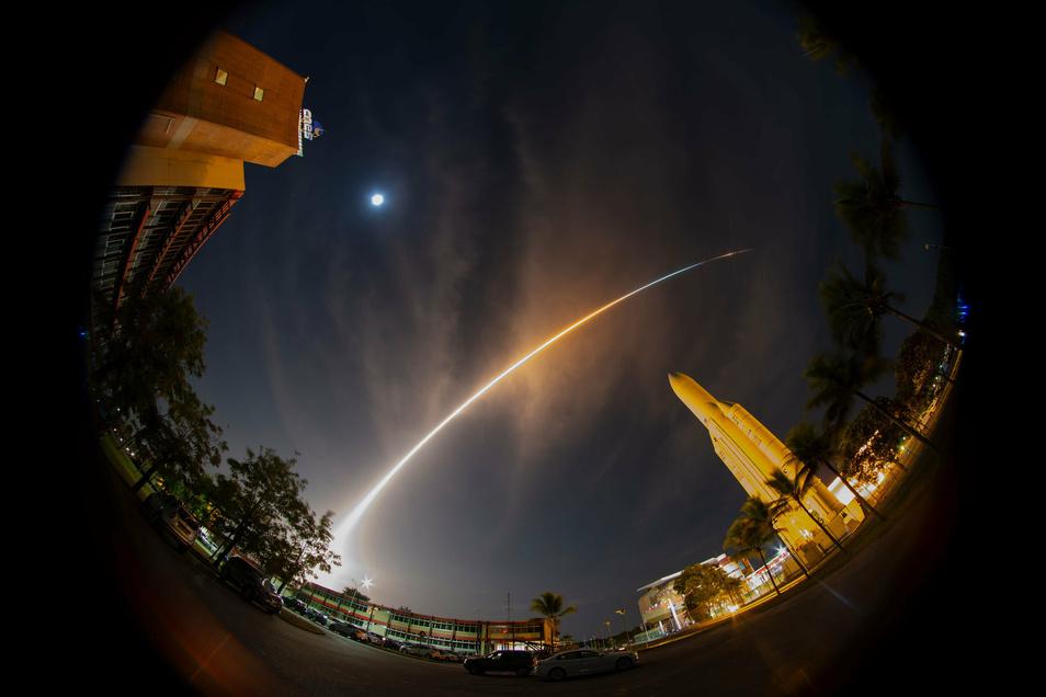 Vor zwei Jahren startete eine Ariane-5-Rakete mit der Sonde BepiColombo an Bord vom Weltraumbahnhof Kourou.