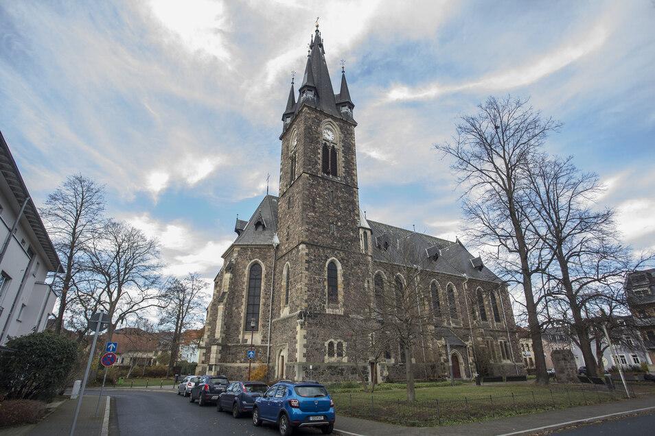 Imposanter Sakralbau: die Christuskirche in Freital-Deuben