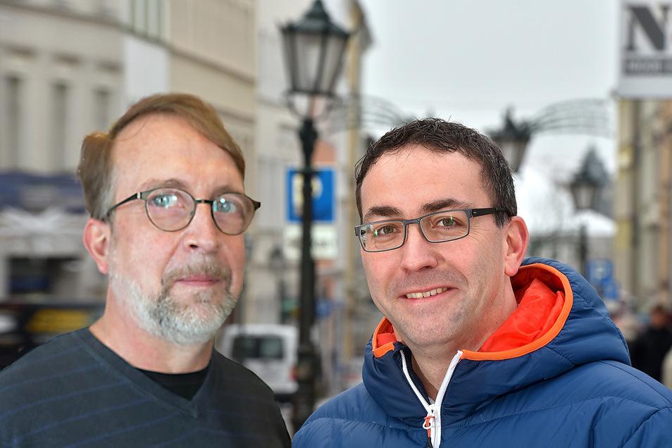 Ingo Seiler (links) und Guido Storch leiten derzeit die Amtsgeschäfte in Löbau.