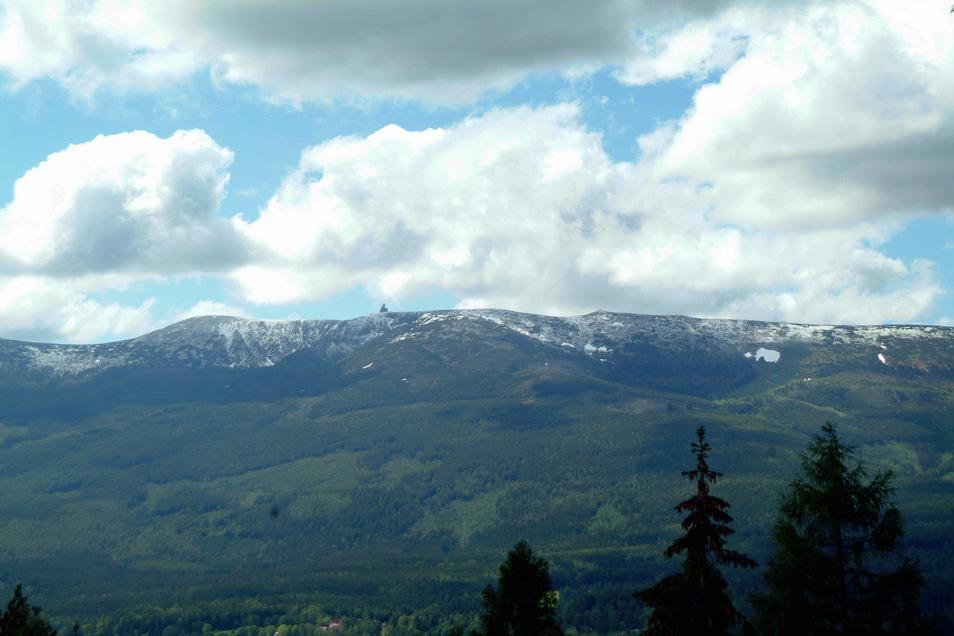Blick auf das Riesengebirge.