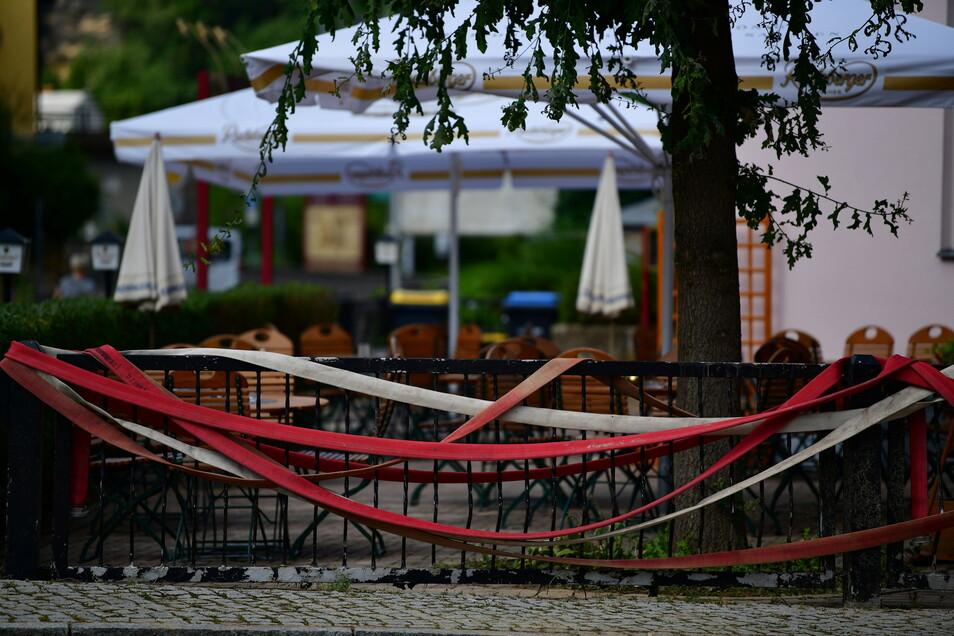 Krippen in der Sächsischen Schweiz wurde am Wochenende von den Wassermassen überrascht.