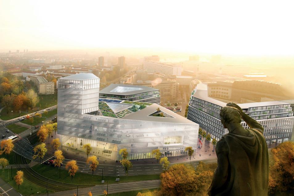 So stellten sich die Planer den Bau am Ferdinandplatz vor. Doch mittlerweile wurde umgeplant.