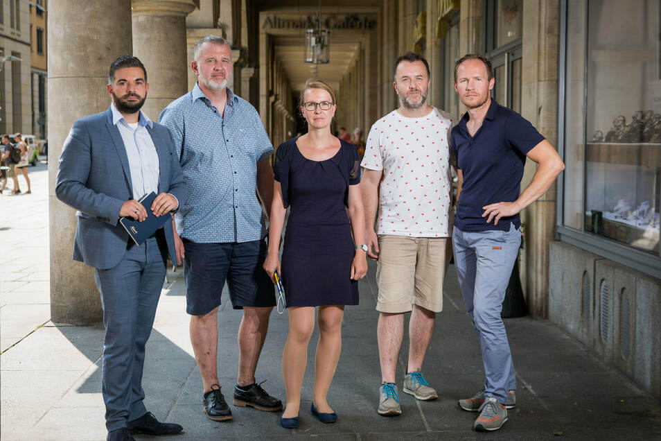 Die Hoteliers und Gastronomen Max Rothe, Jens Budde, Bianca Mühl, Ralph Krause und Olaf Kranz (v.l.) warten auf ein Zeichen aus der Politik.