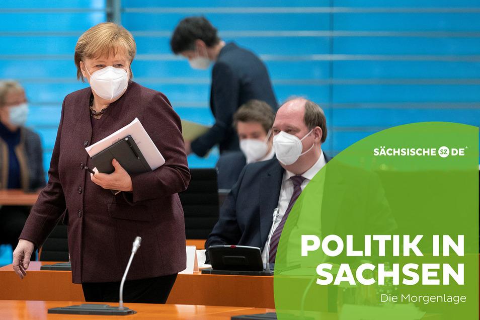 Bundeskanzlerin Angela Merkel hatte am Mittwoch wieder eine Videoschalte mit den Spitzen der Bundesländern einberufen.
