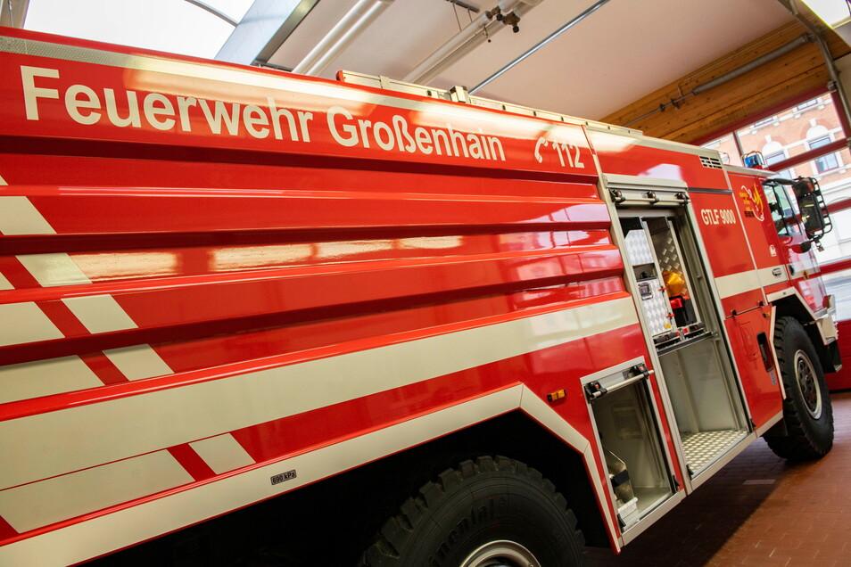 Das neue GTLF 9000 der Feuerwehr Großenhain: Kommt es zum Einsatz, kostet das rund 200 Euro pro Stunde.